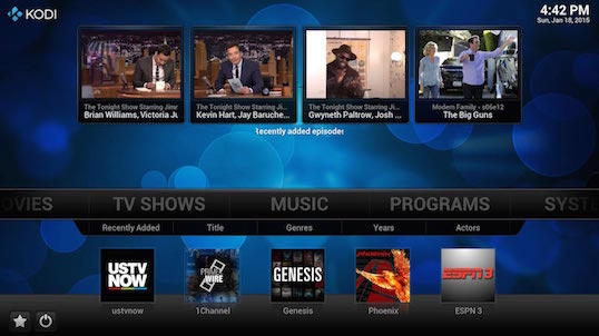 Kodi for PC Windows Mac